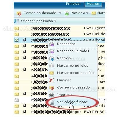 codigo fuente hotmail Como saber cual es la dirección IP en un correo de Hotmail