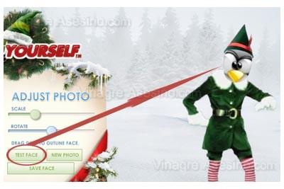 Previsualizando el ajuste del rostro de Tux en el Elfo