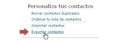 exportar contactos Pasar contactos de Hotmail de una cuenta de Hotmail a otra cuenta de Hotmail