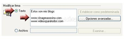 enlaces firma Como insertar una firma en Outlook Express