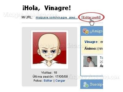 Editar Perfil de MySpace