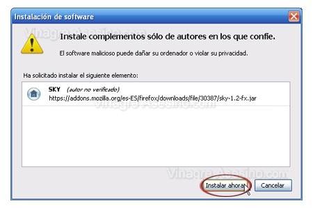 Instalar Complementos para Firefox