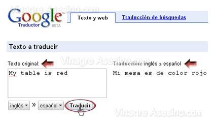 Traductor el google