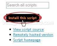 Boton de inatalación del script