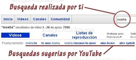 Busqueda en YouTube