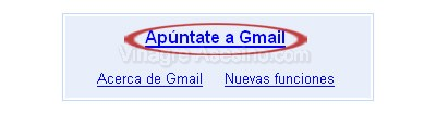 Enlace Apuntate a Gmail