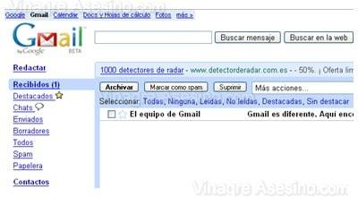 Bandeja de entrada de Gmail