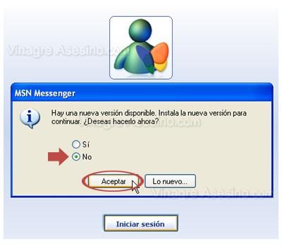 Windows Live Messenger. No se puede volver a msn Messenger