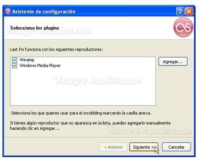 Plugins de Last.fm para los reproductores instalados