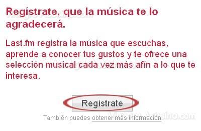 Registrate en Last.fm