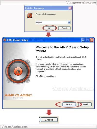 comienzo AIMP Classic. Manual de instalación y primera configuración