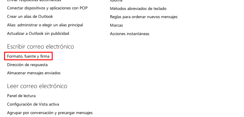 Outlook Firma Personal