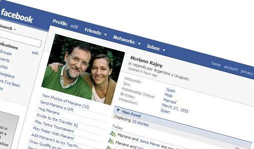 mariano rajoy facebook Tecnología y política.