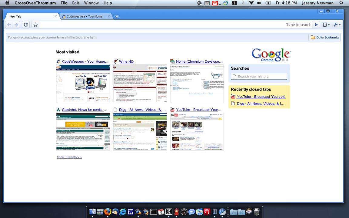 Download Google Chrome On Mac Os X 10.5.8