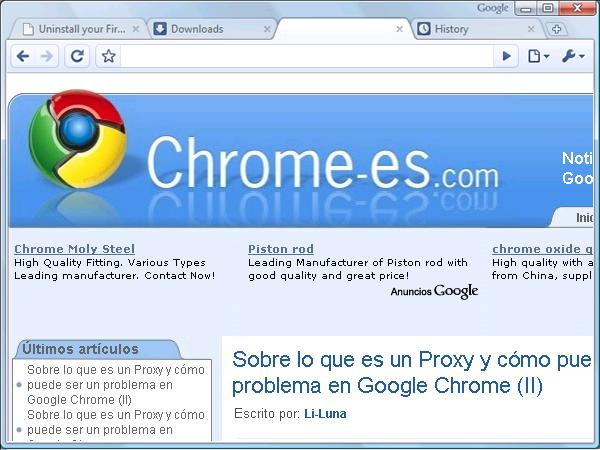Interfaz Google Chrome
