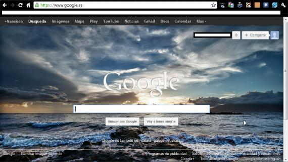 Página principal de Google