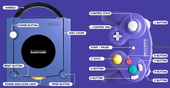gamecube consola y mando