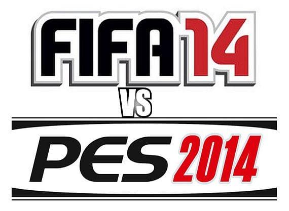 fifa 14 vs pes 2014