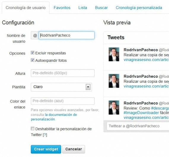 crear widgets en Twitter 02