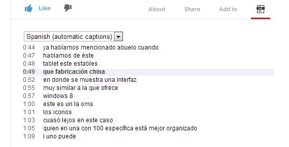 transcripcion en youtube 01
