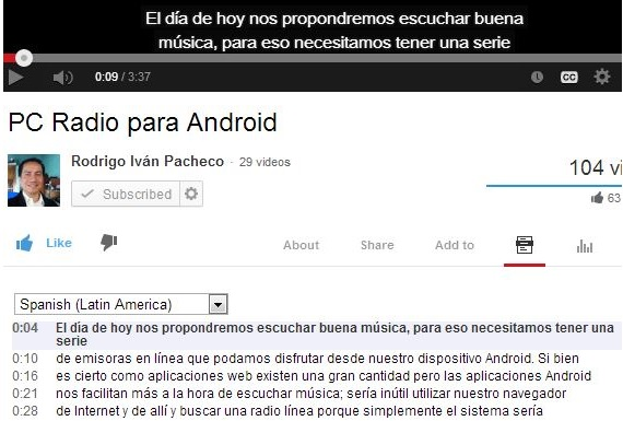 transcripcion en youtube 02