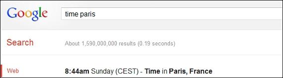 Conocer la hora en otro pais con Google