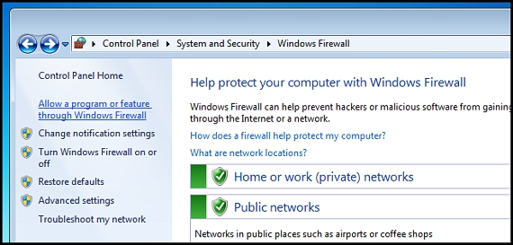 FireWall en Windows