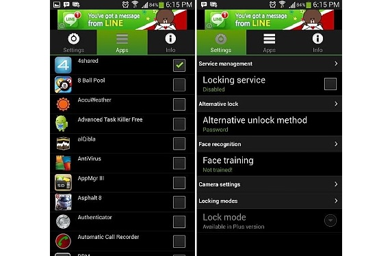 Visidon Applock para Android