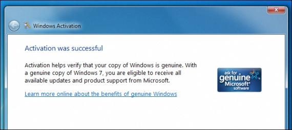 Windows 7 activado