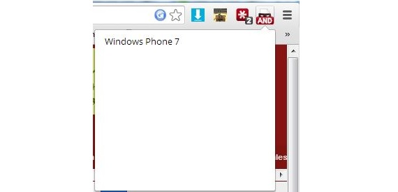 Windows Phone en Chrome