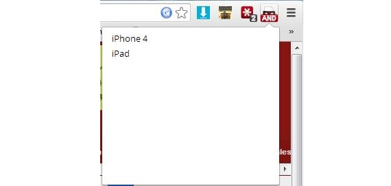 iOS en Chrome