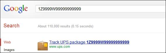 numero de guia de un paquete en Google