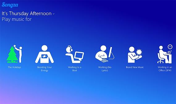 songza para Windows 8.1