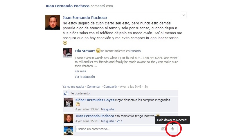 comentarios de voz en Facebook 04