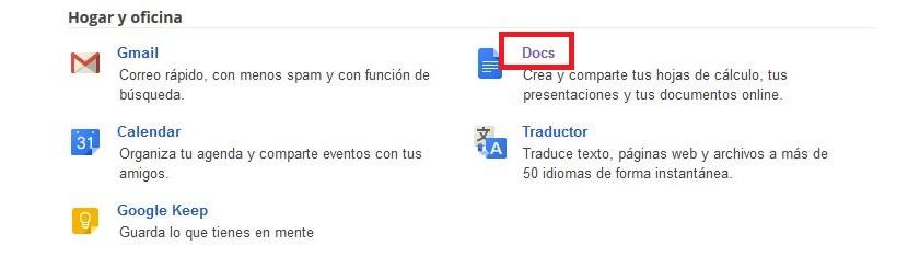 Google Docs en la web 02
