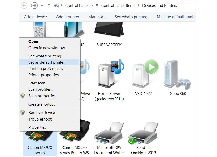 03 impresoras en Windows 8.1