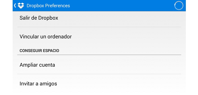 Dropbox preferencias