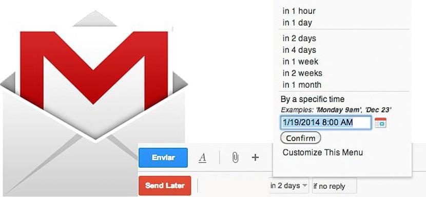 programar envio de mensajes gmail