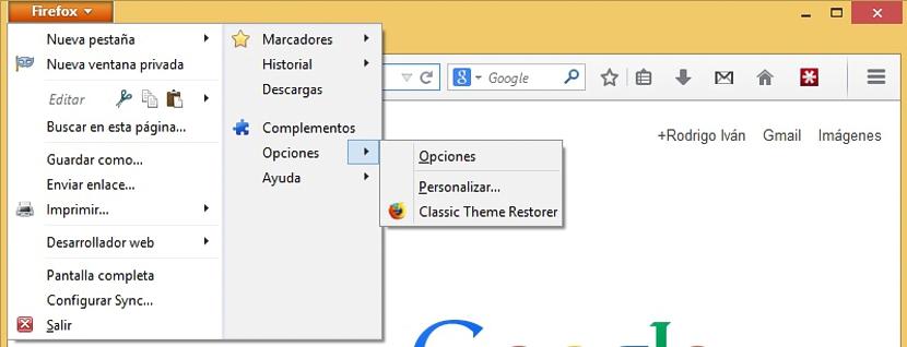 02 interfaz clásica en Firefox 29