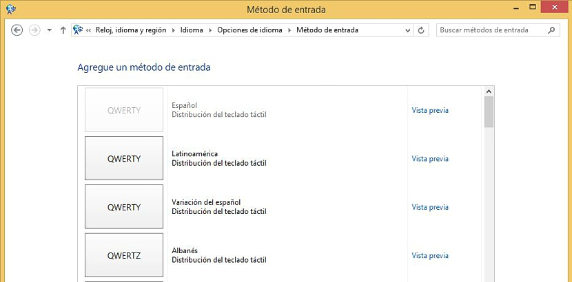 05 configurar el teclado en Windows 8.1