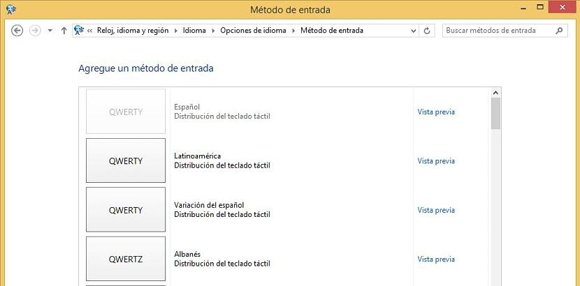 05 configurar el teclado en Windows 8.1