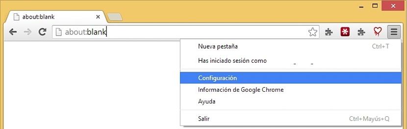 Configuracion de Chrome