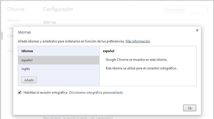 administrar idiomas en Chrome
