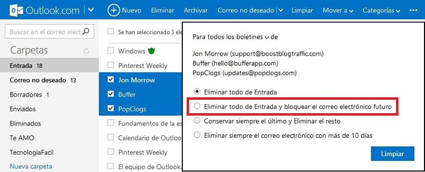 bloquear contactos en Outlook 03