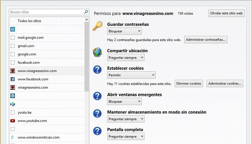 bloquear páginas web en Firefox 03
