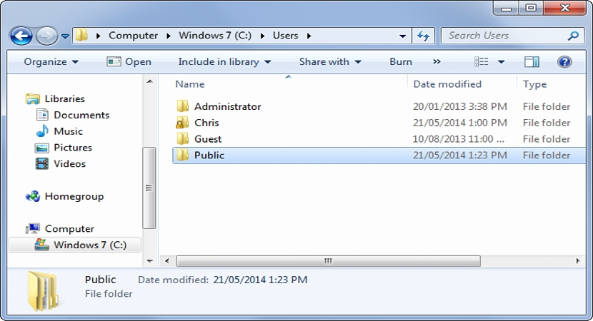 compartir archivos publicamente en Windows