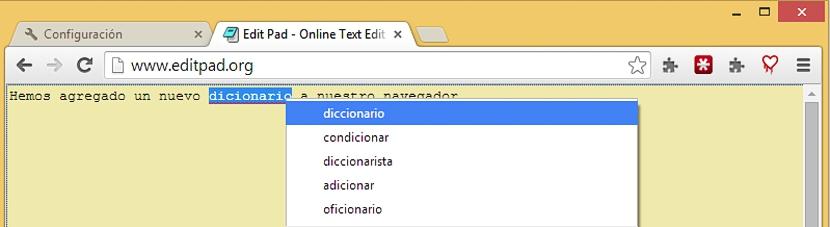 corrector ortografico en Chrome