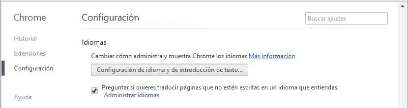 idiomas en Chrome