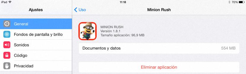 Limpiar espacio en iPad 03