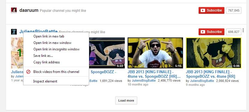 bloquear canales de youtube